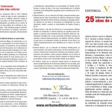 Editorial Verbum cumple 25 años