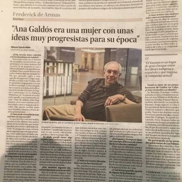 Reseña en el periódico La Provincia de «El abra del Yumurí»