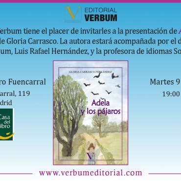 Presentación de «Adela y los pájaros», de Gloria Carrasco