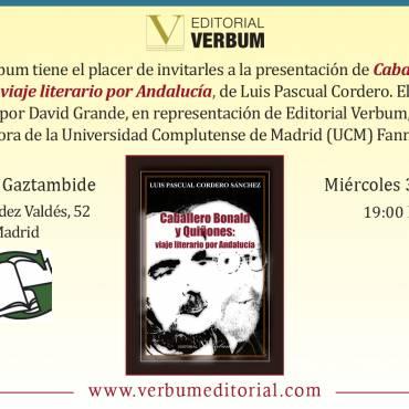 Presentación en Madrid de «Caballero Bonald y Quiñones: viaje literario por Andalucía»