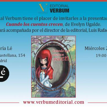 Presentación en Madrid de «Cuando los cuentos crecen», de Evelyn Ugalde