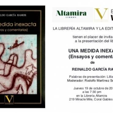 Presentación de «Una medida inexacta», de Reinaldo García Ramos