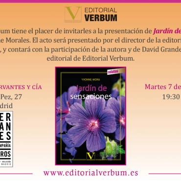 """Presentación de """"Jardín de Sensaciones"""", de Judy Yvonne Morales"""