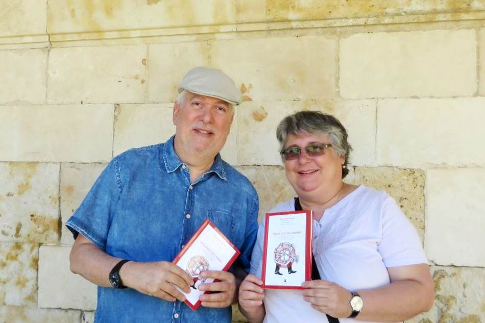 Luis Cabrera y Marta Rodrígues, en Salamanca (foto de Jacqueline Alencar)