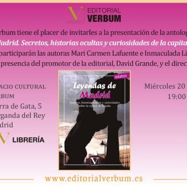 Presentación de la antología «Leyendas de Madrid»