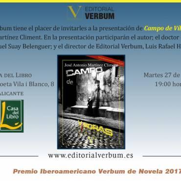 Presentación de «Campo de Víboras», de José Antonio Martínez Climent