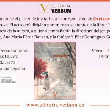 Presentación de «En el corazón del tilo», de Ana María Barroso