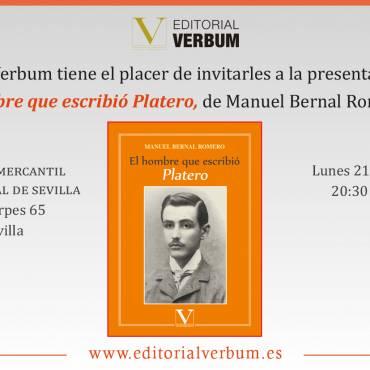 «El hombre que escribió Platero», presentación