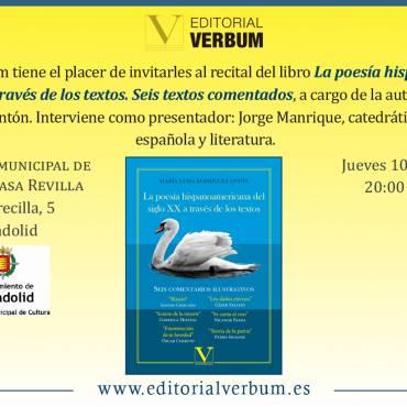 Presentación de «La poesía hispanoamericana del siglo XX a través de los textos»