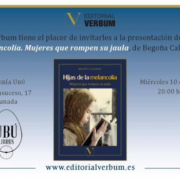 «Hijas de la melancolía», presentación en librería Ubú