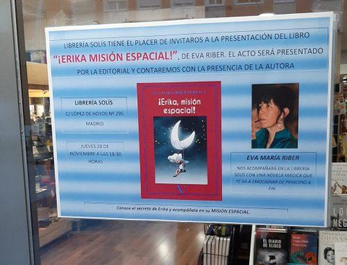 """Presentación de """"¡Erika, misión espacial!"""", de Eva María Riber"""